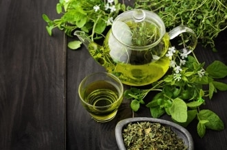 الشاي الأخضر الاخضر