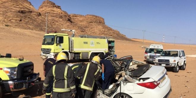 وفاة سيدتين في حادث مروع على طريق العلا - حايل